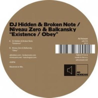 Dj Hidden / Broken Note / Niveau Zero / Balkansky EXISTENCE / OBEY Vinyl Record