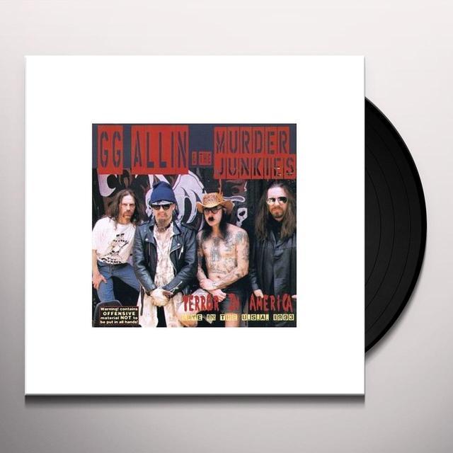 Gg Allin & Murder Junkies TERROR IN AMERICA Vinyl Record