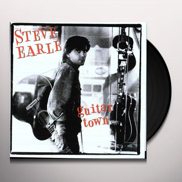 Steve Earle GUITAR TOWN Vinyl Record - 180 Gram Pressing