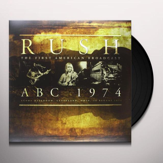 Rush ABC 1974 Vinyl Record