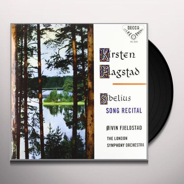 Sibelius / Flagstad / London Sym Orch / Fjeldstad SONG RECITAL Vinyl Record - 180 Gram Pressing