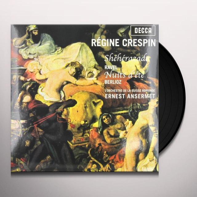 Ravel / Crespin / Ansermet / Orch De La Suisse SHEHERAZADE / LES NUITS D'ETE Vinyl Record - 180 Gram Pressing