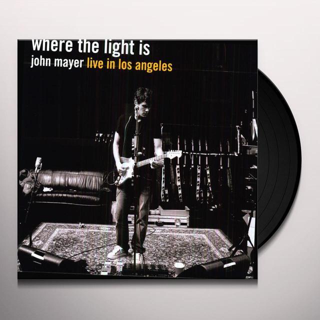 John Mayer WHERE THE LIGHT IS Vinyl Record - Holland Import