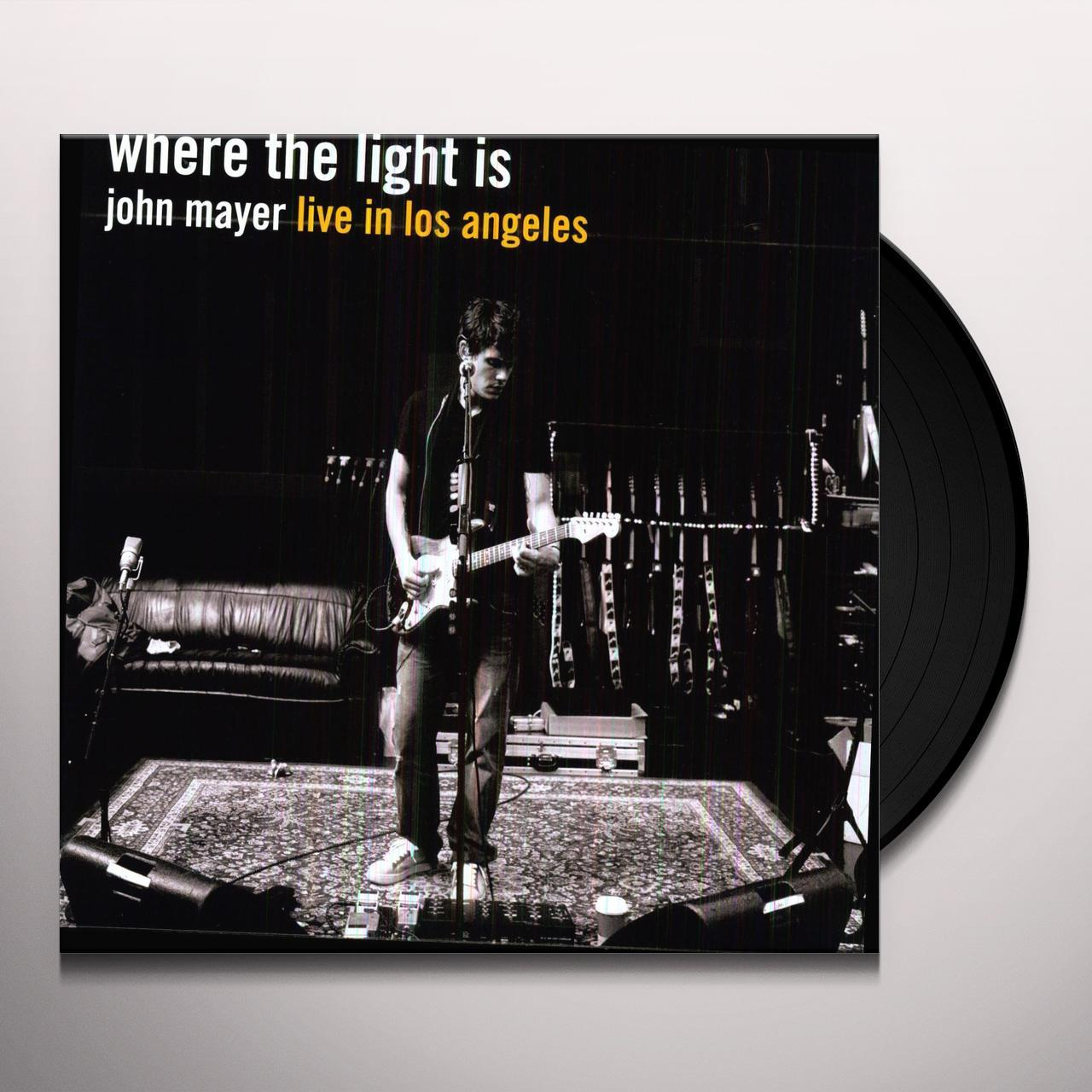 john mayer where the light is vinyl record. Black Bedroom Furniture Sets. Home Design Ideas