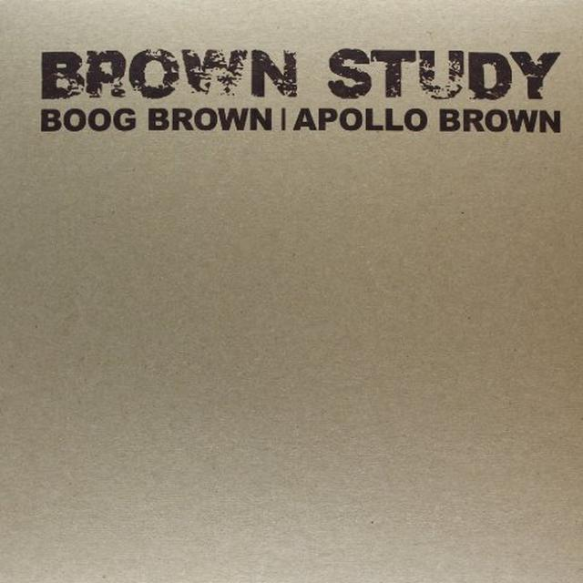 Boog Brown & Apollo Brown BROWN STUDY Vinyl Record