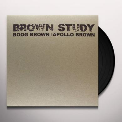 Boog Brown & Apollo Brown BROWN STUDY Vinyl Record