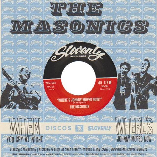 Masonics WHEN YOU CRY AT NIGHT Vinyl Record