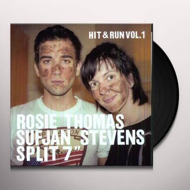 Rosie Thomas / Sufjan Stevens HIT & RUN 1 (DLCD) (Vinyl)