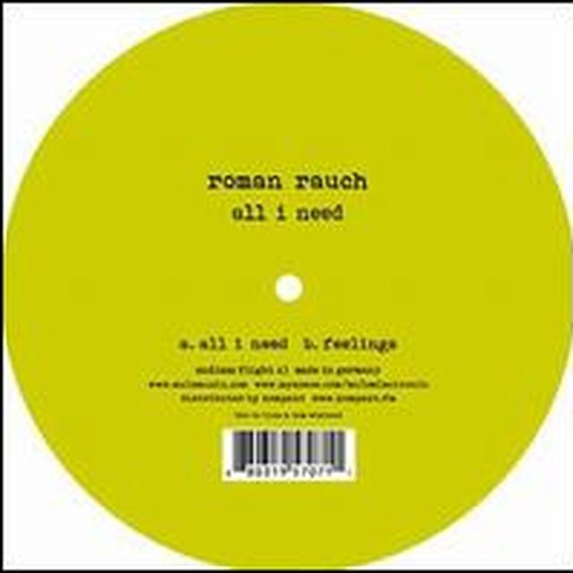 Roman Rauch ALL I NEED Vinyl Record