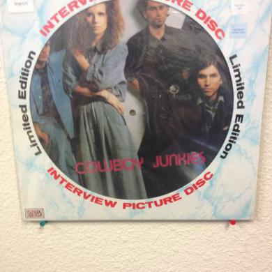 Cowboy Junkies INTERVIEW PICTURE DISC Vinyl Record