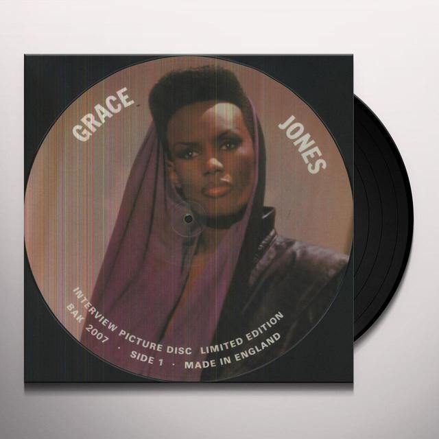 Grace Jones INTERVIEW PICTURE DISC Vinyl Record
