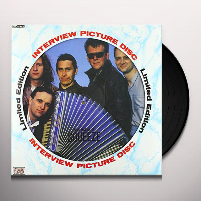 Squeeze INTERVIEW PICTURE DISC Vinyl Record