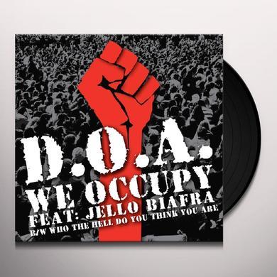 Jello Doa / Biafra WE OCCUPY Vinyl Record - Limited Edition