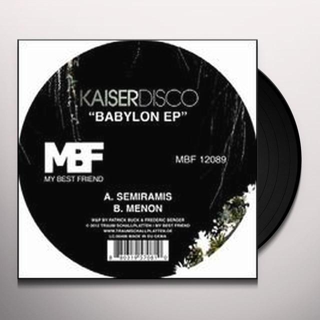 Kaiserdisco BABYLON (EP) Vinyl Record