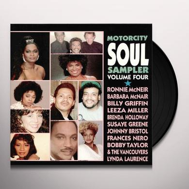 Motorcity Soul Sampler 4 MOTOWN ARTISTS-80'S RECORDINGS Vinyl Record