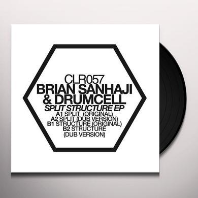 Brian Sanhaji & Drumcell SPLIT STRUCTURE (EP) Vinyl Record