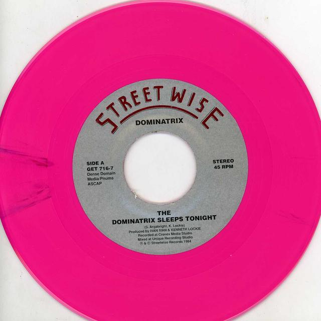 DOMINATRIX SLEEPS TONIGHT / BEAT ME SCRATCH ME Vinyl Record