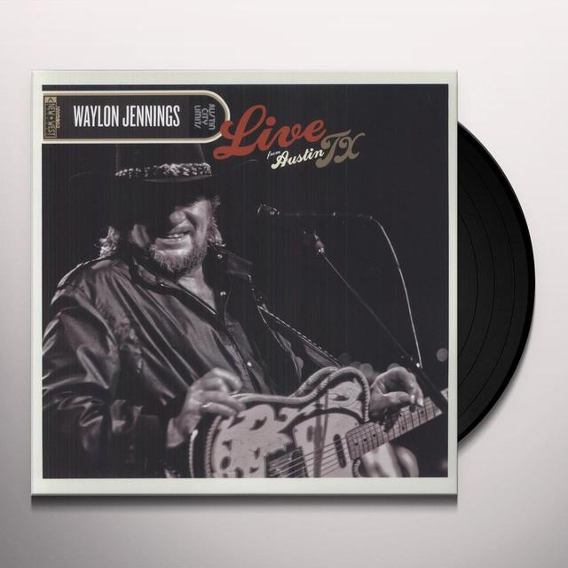 Waylon Jennings LIVE FROM AUSTIN TX Vinyl Record