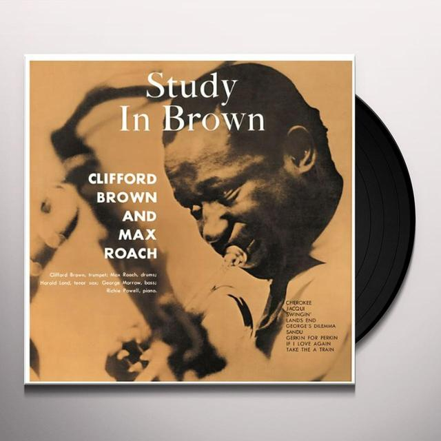 Clifford Brown & Max Roach STUDY IN BROWN (BONUS TRACK) Vinyl Record - 180 Gram Pressing
