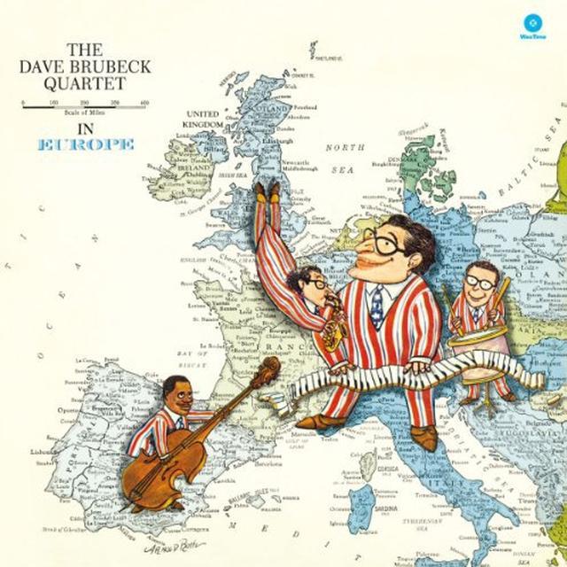 The Dave Brubeck Quartet IN EUROPE Vinyl Record - 180 Gram Pressing