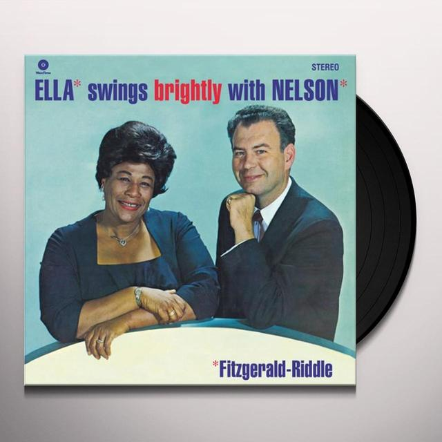 Carmen Fitzgerald ELLA SWINGS BRIGHTLY WITH NELSON RIDDLE Vinyl Record - 180 Gram Pressing