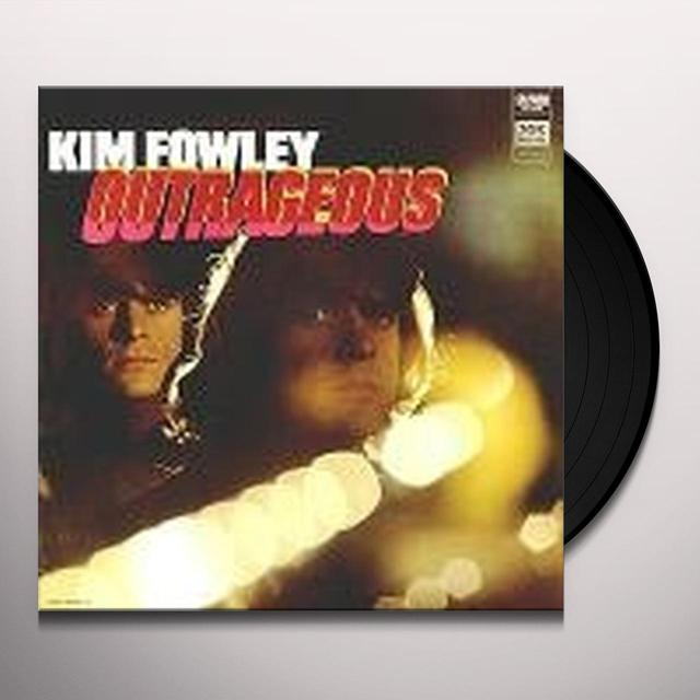 Kim Fowley OUTRAGEOUS Vinyl Record - Reissue