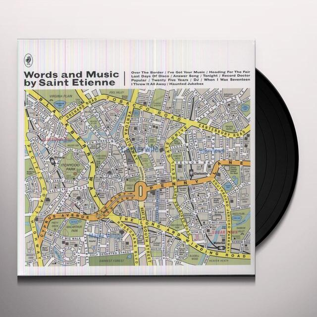 St Etienne WORDS & MUSIC BY SAINT ETIENNE Vinyl Record - Portugal Import