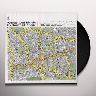 St Etienne WORDS & MUSIC BY SAINT ETIENNE Vinyl Record - Portugal Import