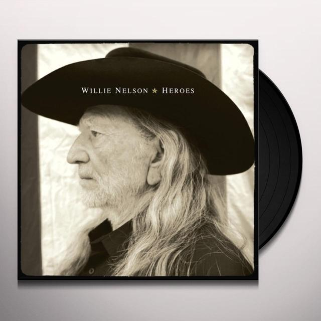 Willie Nelson HEROES Vinyl Record - 180 Gram Pressing