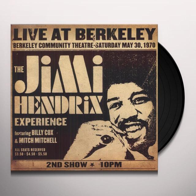 JIMI HENDRIX EXPERIENCE LIVE AT BERKELEY Vinyl Record