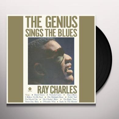 Ray Charles GENIUS SINGS THE BLUES (BONUS TRACK) Vinyl Record - 180 Gram Pressing
