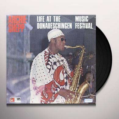 Archie Shepp LIVE AT THE DONAUESCHINGEN MUSIC FESTIVAL Vinyl Record - 180 Gram Pressing