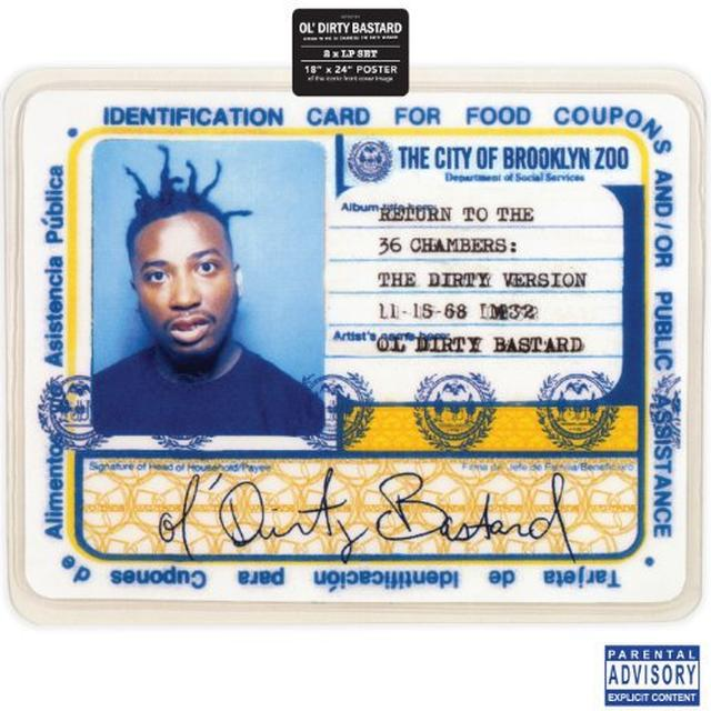 Ol Dirty Bastard RETURN TO THE 36 CHAMBERS Vinyl Record - Remastered