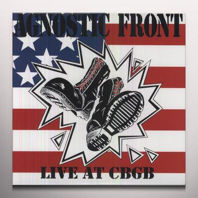 Agnostic Front LIVE AT CBGB Vinyl Record - Colored Vinyl, Limited Edition