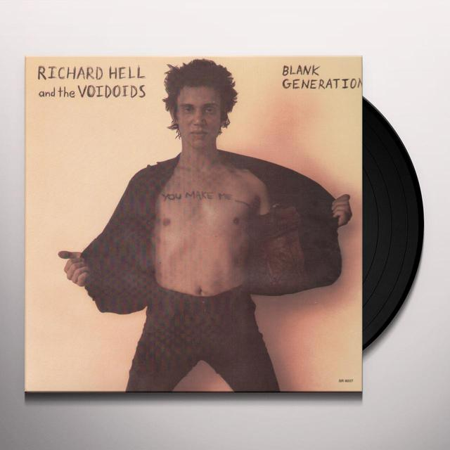 Richard Hell & The Voidoids BLANK GENERATION Vinyl Record - 180 Gram Pressing