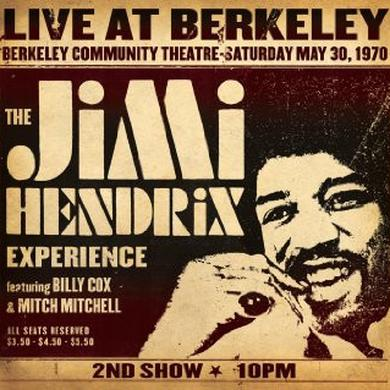 Jimi Hendrix LIVE AT BERKELEY Vinyl Record