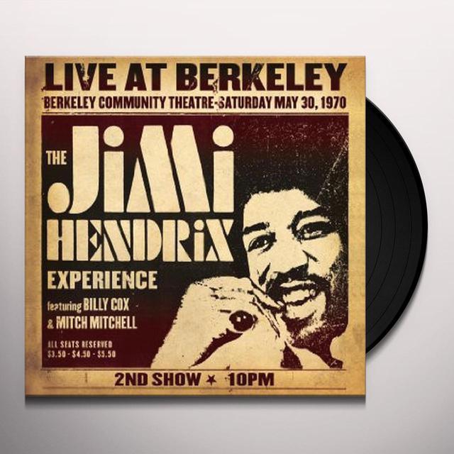 Jimi Hendrix LIVE AT BERKELEY Vinyl Record