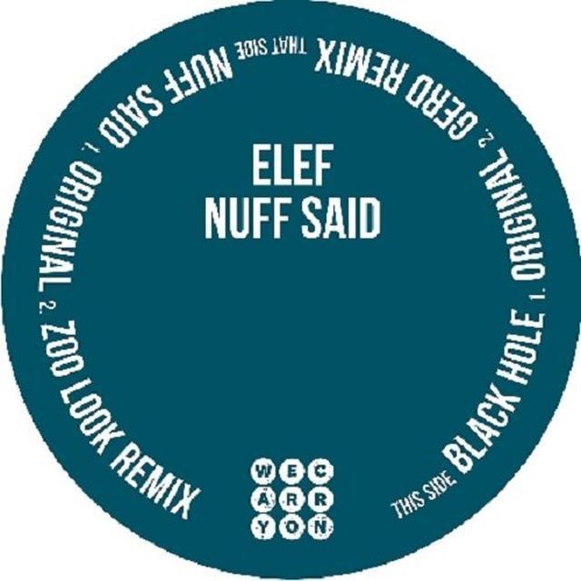 Elef NUFF SAID (EP) Vinyl Record