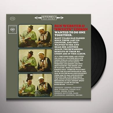 BEN WEBSTER & SWEETS EDISON Vinyl Record - Limited Edition, 180 Gram Pressing