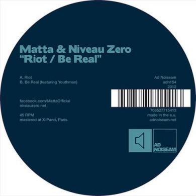 Matta & Niveau Zero RIOT / BE REAL Vinyl Record