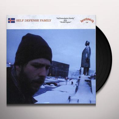 Self Defense Family SELF IMMOLATION FAMILY B/W WORLD VIRGINS Vinyl Record