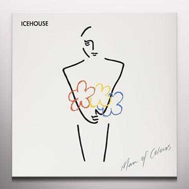 Icehouse MAN OF COLOURS Vinyl Record - Blue Vinyl
