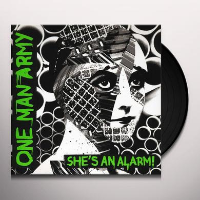 One Man Army SHE'S AN ALARM Vinyl Record - MP3 Download Included