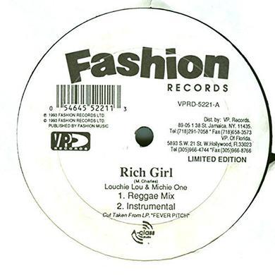 Louchie Lou RICH GIRL Vinyl Record