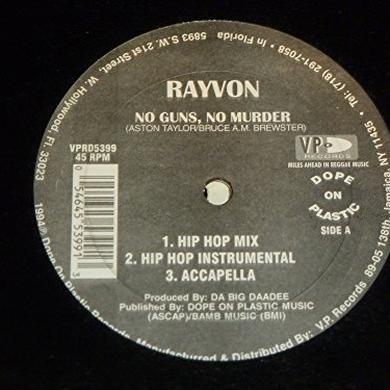 Rayvon NO GUNS NO MURDER Vinyl Record