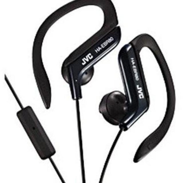 "JVC HA-EBR80-B BLACK ""SPORT CLIP""HEADPHONES W/MIC"