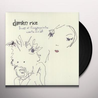 Damien Rice LIVE AT FINGERPRINTS: WARTS & ALL Vinyl Record