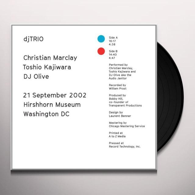 Christian Marclay / Toshio Kajiwara / Dj Olive 21 SEPTEMBER 2002 Vinyl Record
