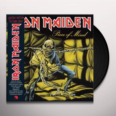 Iron Maiden PIECE OF MIND Vinyl Record - Picture Disc