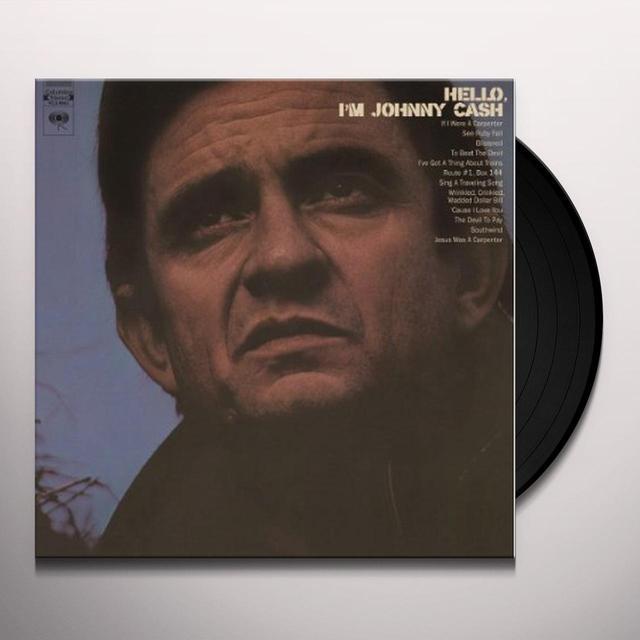 HELLO I'M JOHNNY CASH Vinyl Record - Canada Import